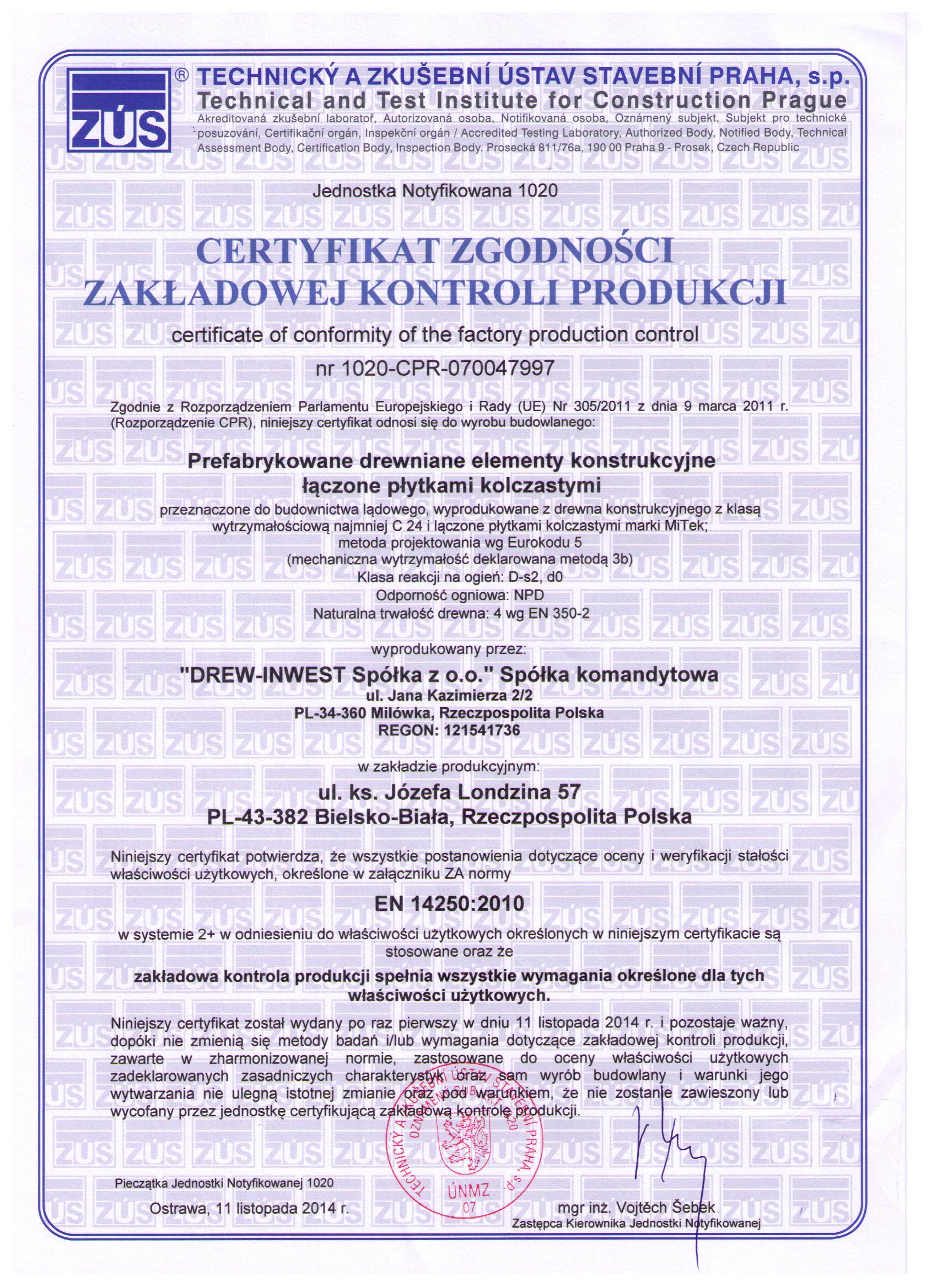 Domy szkieletowe śląsk certyfikat 2
