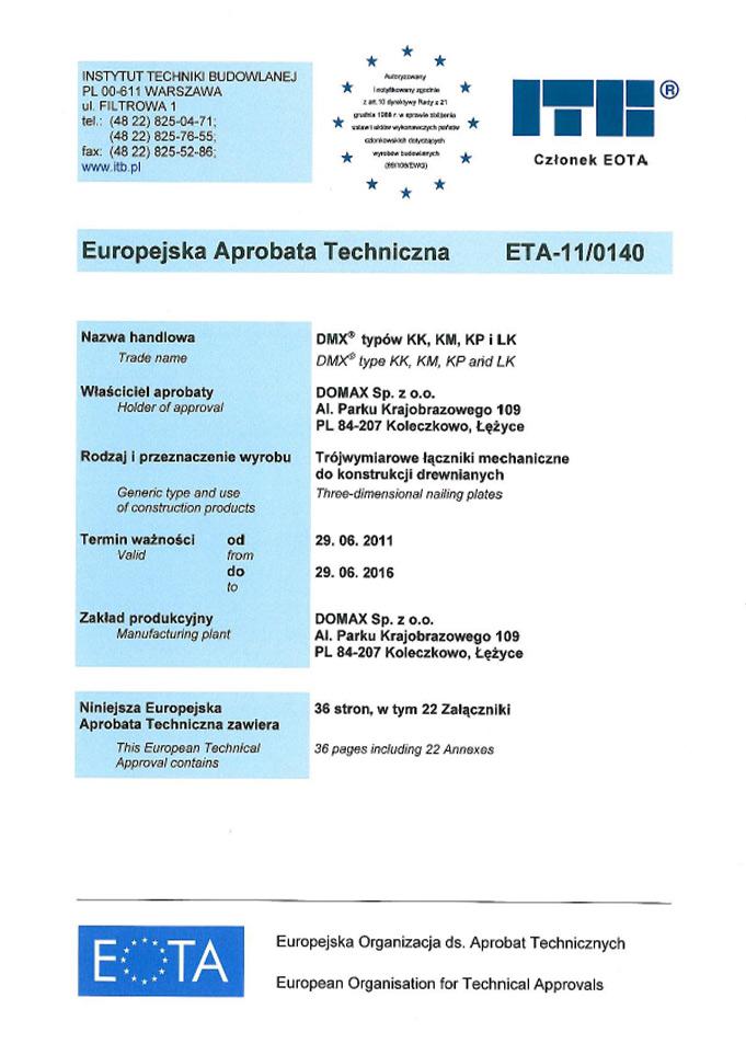 Domy szkieletowe śląsk - certyfikat 10
